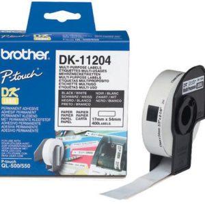 Etikett BROTHER DK-11204 uni 17x54 (400