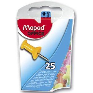 Kartnåler MAPED 10mm ass farger (25)