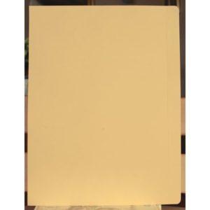 Aktomslag A4 kartong enkel kant gul