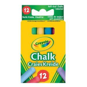 Kritt CRAYOLA støvfri ass. farger (12)