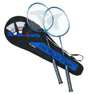 Badmintonsett 2 racketer og 1 ball