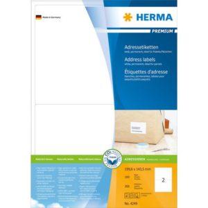 Etikett HERMA adr A4 199