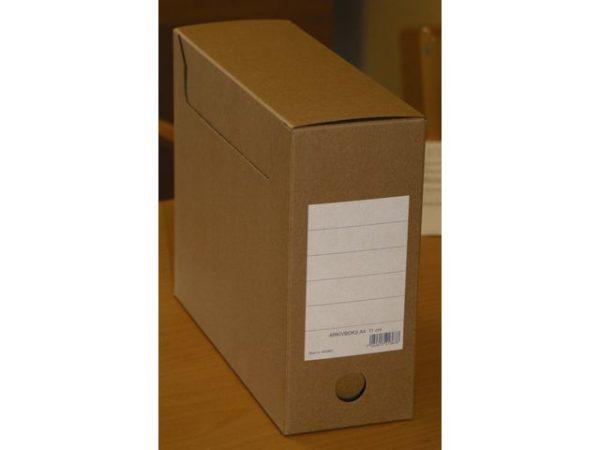 Arkivboks A4 11cm massiv papp m/hull