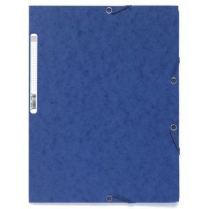 Strikkmappe EXACOMPTA A4 3 kl 400g blå