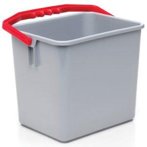 Bøtte BASICLEAN plast rødt håndtak 6L