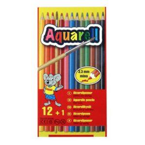 Akvarellpenn SENSE  12 farger og pensel