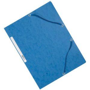 Strikkmappe EXACOMPTA A4 3 kl 355g blå