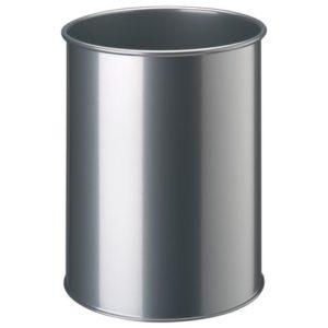 Papirkurv DURABLE metall 15L sølv