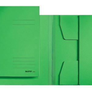 Klaffmappe LEITZ kartong folio grønn