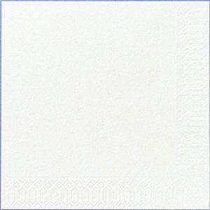 Serviett DUNI 3L 33cm hvit (125)