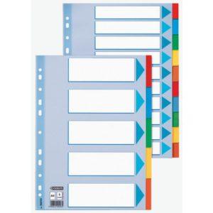 Skilleblad ESSELTE A4 5-delt kart 5 frg