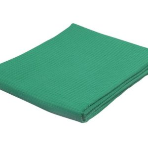 Vaffelvev 80x100cm grønn
