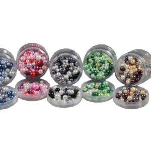 Glassperler 100g perlemorsfarger (5)