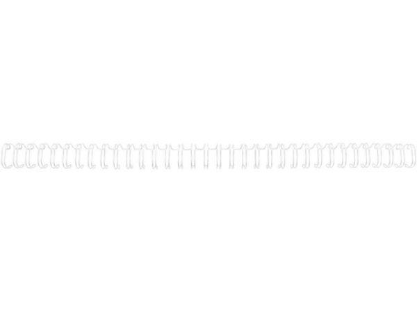 Metallspiral GBC 11mm 3:1 hvit (100)