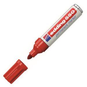 Merkepenn EDDING 550 rød