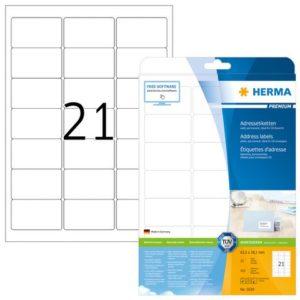 Etikett HERMA adr A4 63