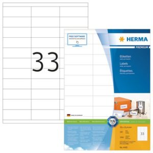 Etikett HERMA premium A4 70x25