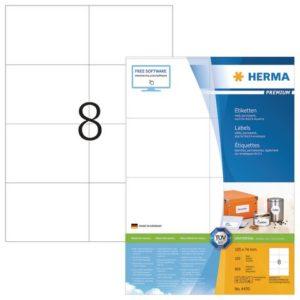 Etikett HERMA premium A4 105x74mm (800)