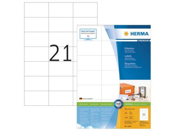 Etikett HERMA premium A4 70x42