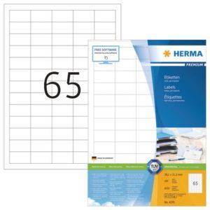 Etikett HERMA premium A4 38