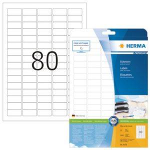 Etikett HERMA premium A4 35