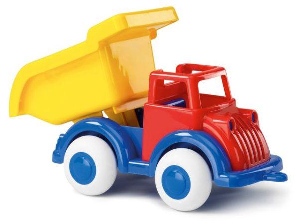 Lastebil 21 cm rød og gul