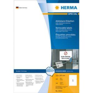 Etikett HERMA flytt A4 210x297mm (100)