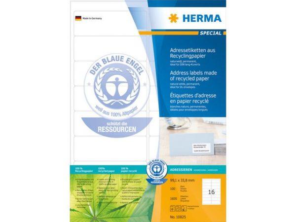 Etikett HERMA resirk A4 99