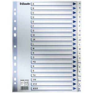 Register ESSELTE A4 plast maxi A-Å hvit