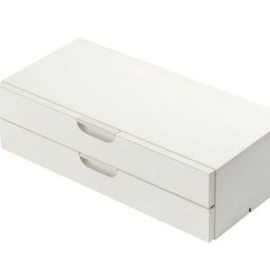 Skuffekassett KENSON stor 2 stk hvit