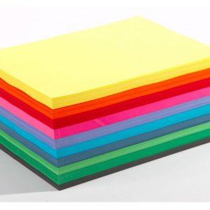 Farget papir ark 110g 10 ass frg (1000)