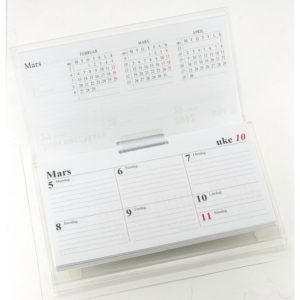 Bordkalenderstativ GRIEG Fleep-a-week