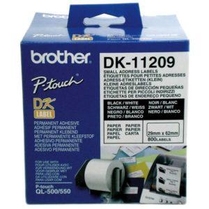 Etikett BROTHER DK-11209 ad 29x62mm(800