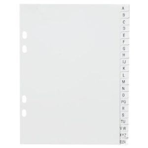 Register A5 PP A-Å hvit