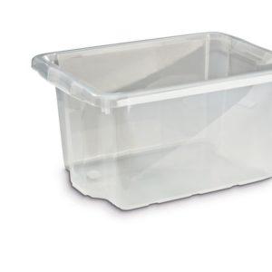 Oppbevaringsboks 33L transparent plast
