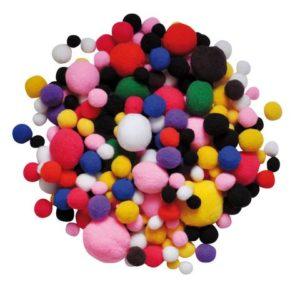 Pom Pom ass str og farger (525)