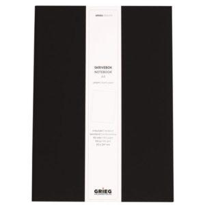 Skrivebok GRIEG A4 192s ulinj sort