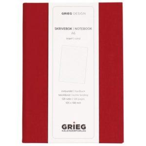 Skrivebok GRIEG A6 128s linj rød
