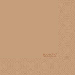 Serviett DUNI 3L 33cm natur eco echo