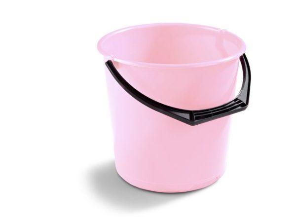 Bøtte plast 10L rosa