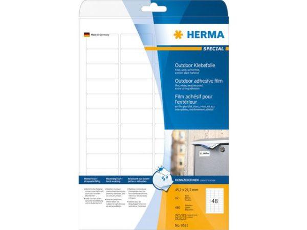 Etikett HERMA utendørs A4 45