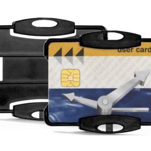 Kortholder DURABLE hardplast sort (10)