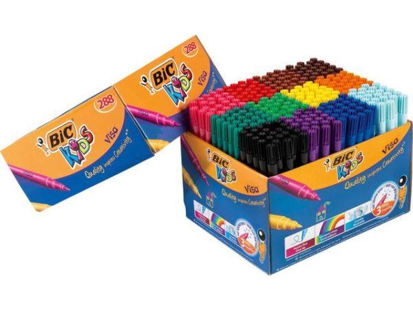 Fiberpenn BIC Kids Visa 12 farger (288)