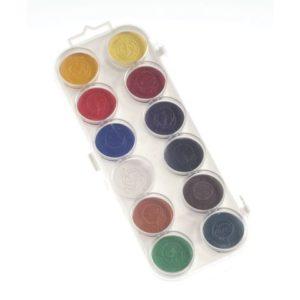 Akvarellfarger sett 30mm 12 farger