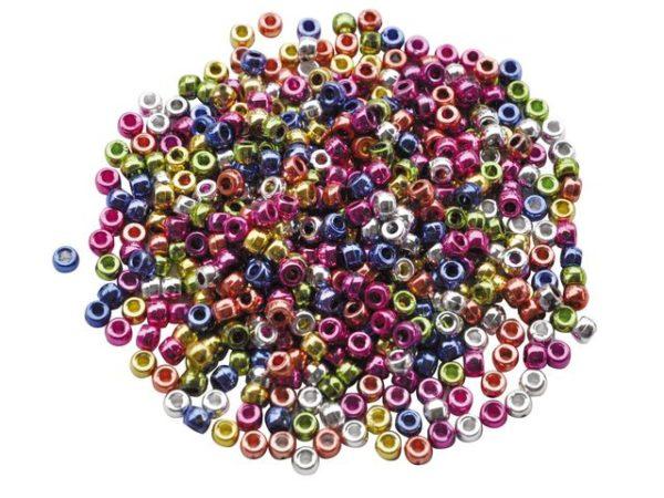 Plastperler kongoperler metallic (1000)