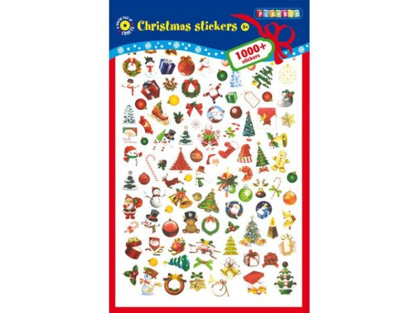 Klistremerker diverse julemotiv (1000)