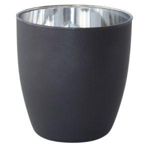 Lysholder DUNI glass poppie sølv (6)