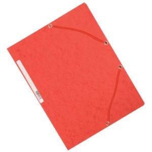 Strikkmappe EXACOMPTA A4 3 kl 355g rød