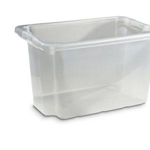 Oppbevaringsboks 55L transparent plast