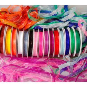 Organzabånd ass farger (15)